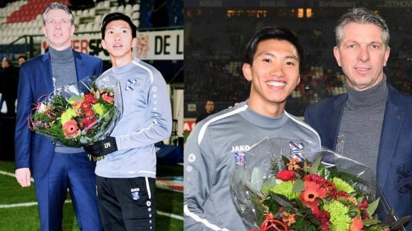 Lễ tôn vinh Văn Hậu: Đội bóng Hà Lan chiếu 2 bàn thắng của chàng trai Việt Nam ở chung kết SEA Games 30 cho khán giả theo dõi