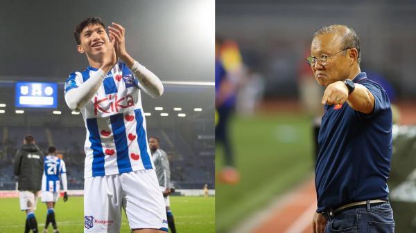 HLV Park Hang-seo đưa ra quyết định có thể gây ảnh hưởng tới tương lai ra sân của Đoàn Văn Hậu tại Hà Lan