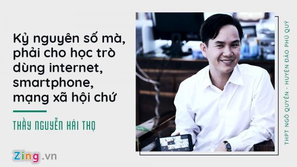 Bình Thuận: Hiệu trưởng trường huyện đảo cho học trò dùng điện thoại, tô son