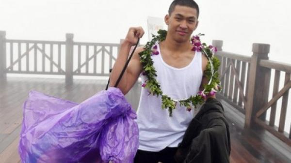 Thanh niên mặc áo ba lỗ 'thách thức' giá lạnh 0 độ trên đỉnh Fansipan là võ sĩ boxing ở Sài Gòn