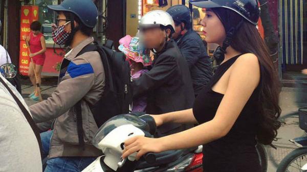 Sự thật đằng sau bức ảnh cô nàng mặc váy sexy đi xe gắn máy giữa trời lạnh 9 độ đang khiến MXH dậy sóng