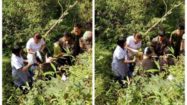 Chuyện hy hữu ngày 26 Tết: Bác sỹ đỡ đẻ cho thai phụ dưới khe núi sâu 10m