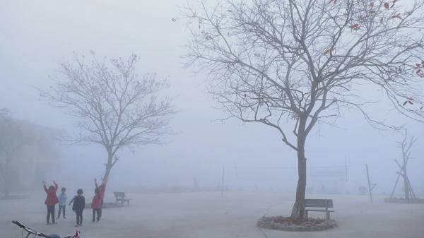 Trường học ẩn hiện trong sương mù tựa Sa Pa ở Phú Thọ