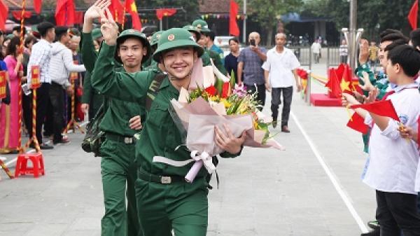 Phú Thọ: Trên 2.000 tân binh lên đường nhập ngũ vào sáng nay
