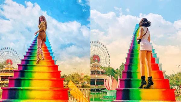 Xuất hiện 'cầu vồng chân mây' ở Sài Gòn khiến dân tình muốn xách balo lên và đi