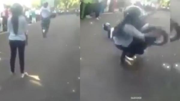 Clip biker bốc đuôi mô tô tỏ tình làm bạn gái gãy răng