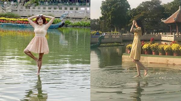 Thỏa sức 'lướt trên mặt nước' diễn phim kiếm hiệp với 'cây cầu tàng hình' ở Sài Gòn