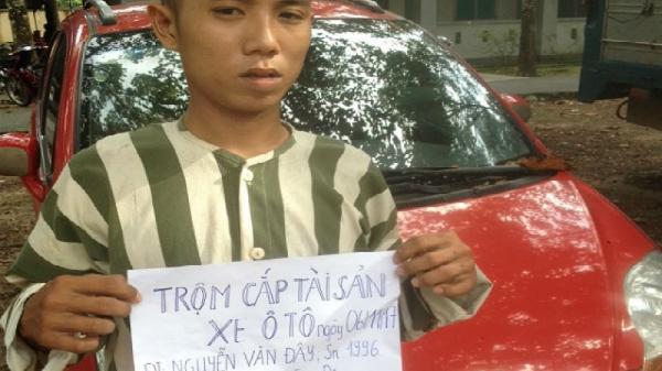 Thanh niên Cà Mau trộm ô tô trong đêm lái tới cửa khẩu để bán