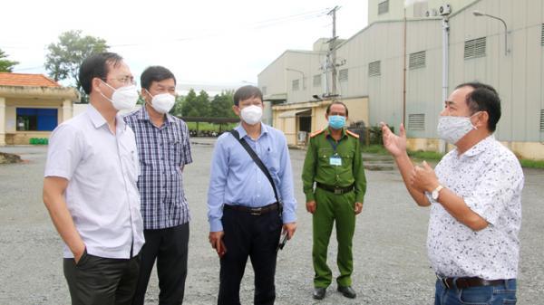 Lãnh đạo tỉnh kiểm tra tình hình phòng, chống dịch tại Khu công nghiệp Trần Quốc Toản