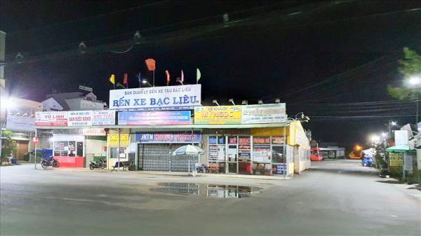 Đường phố Bạc Liêu vắng lặng đêm đầu hạn chế ra đường từ 18 giờ đến 5 giờ