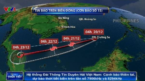 Bão số 15 đổ bộ gây thời tiết xấu cho nhiều khu vực phía Nam