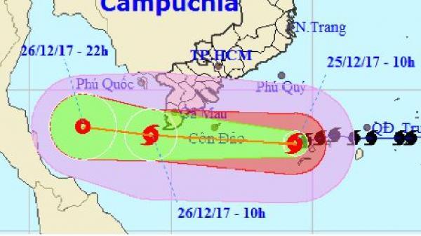 Các cơ quan khí tượng quốc tế dự báo về bão Tembin
