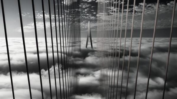Cầu Cần Thơ đẹp mờ ảo trong sương mù