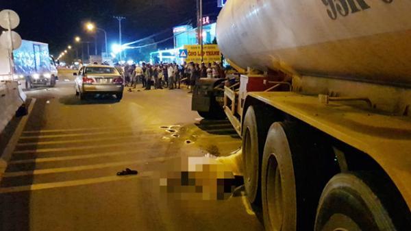 Thi thể thanh niên dưới gầm xe bồn sau tai nạn liên hoàn tuyến Sóc Trăng - Cần Thơ