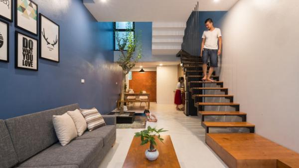 Ngôi nhà ống 52m² đẹp mê mẩn với mặt tiền và khoảng xanh 'càng ngắm càng yêu'