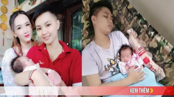 """""""Người đàn ông chuyển giới mang thai đầu tiên ở Việt Nam"""" hạnh phúc khoe ảnh đầy tháng con gái"""