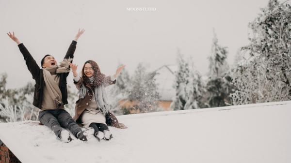 Thành quả của cặp đôi Hà Nội chụp ảnh cưới giữa mưa tuyết ở Y Tý: Sự tình cờ đầy may mắn