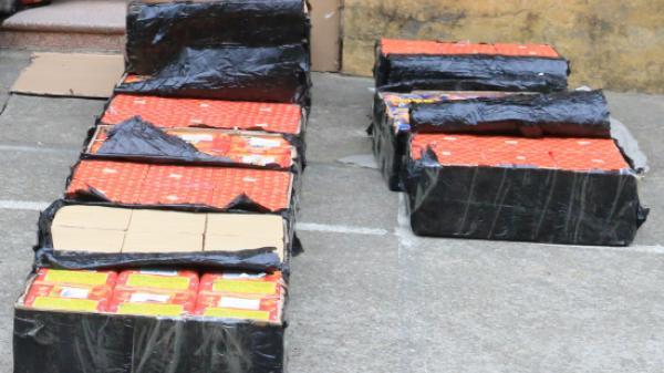 Đồn Biên phòng Trà Lĩnh (Cao Bằng) bắt vụ vận chuyển 30 kg pháo nổ
