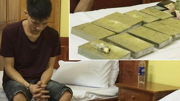 Cao Bằng: Bắt quả tang đối tượng tàng trữ 10 bánh heroin trong khách sạn KaLy