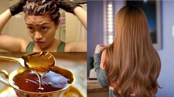 """Nhuộm tóc nâu hạt dẻ """"tẹt ga"""" chỉ với 3 thìa mật ong mà không cần dùng 1 giọt thuốc nhuộm"""