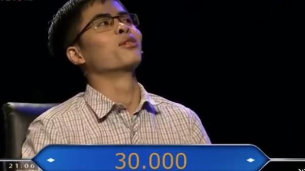 9X thi 30 điểm đại học giành giải thưởng cao tại Ai là triệu phú