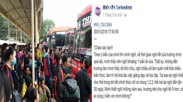Sinh viên gây tranh cãi vì phản đối lịch nghỉ Tết của trường quá dài ngày