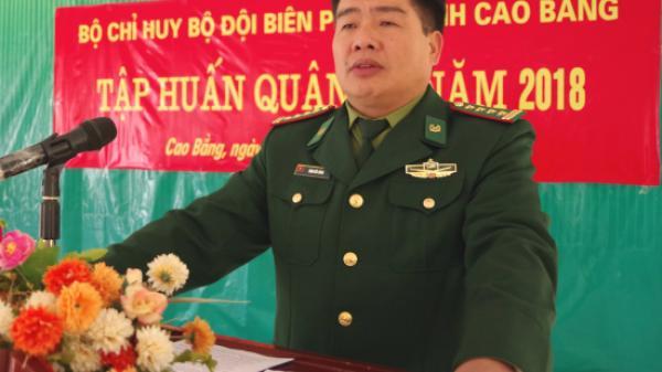 BĐBP Cao Bằng tập huấn quân sự năm 2018