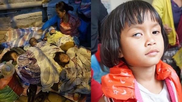 Đau xót hình ảnh người mẹ ôm 4 đứa con thơ lên Hà Nội xin áo ấm, đứa bé tật nguyền cúi đầu cám ơn mọi người mà rơi nước mắt!
