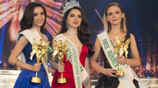 Chùm ảnh: Giây phút Hương giang đăng quang Hoa hậu chuyển giới Quốc tế 2018