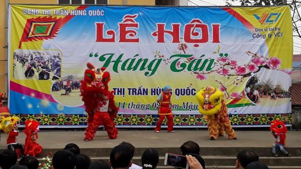 """Cao Bằng: Vui đón hội """"Háng Tán"""" tại thị trấn Hùng Quốc (Trà Lĩnh)"""