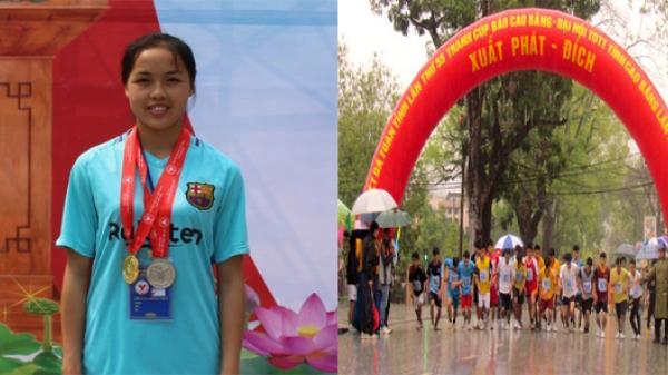 Ngỡ ngàng với cô gái nhỏ nhắn Cao Bằng xuất sắc giành giải nhất Giải Việt dã Đại hội Thể dục thể thao toàn tỉnh lần thứ VIII