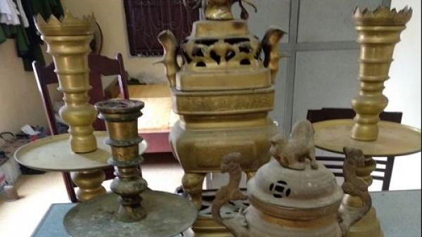 Thanh Hoá: Bắt khẩn cấp 4 đối tượng đột nhập nơi thờ tự trộm cắp lư hương, chuông đồng