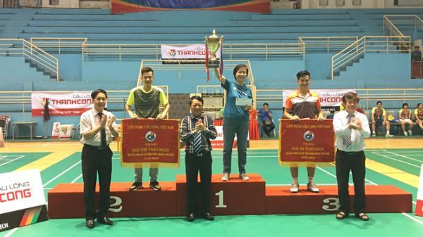 Thái Nguyên giành 2 huy chương Bạc, 2 huy chương Đồng sau giải Cầu lông CLB toàn quốc