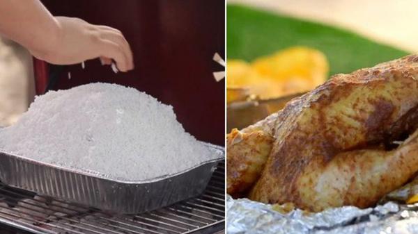 Chàng trai mua về hơn 2kg muối để nướng gà, ai cũng ngăn cản nhưng cuối cùng cả con gà hết sạch trong 30 giây