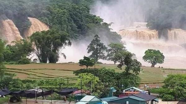 Lũ lớn cuồn cuộn đổ vào thác đẹp nhất Việt Nam, nhiều nhà dân bị ngập sâu từ 1m đến 4m
