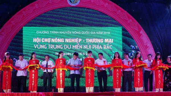 Thái Nguyên: Khai mạc Hội chợ Nông nghiệp - Thương mại