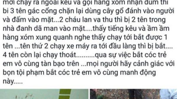 Sự thật thông tin '6 kẻ bắt cóc trẻ em ở Cao Bằng'