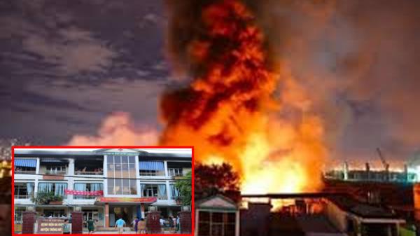 Cao Bằng: Cháy lớn tại Bệnh viện Đa khoa, thiệt hại gần 600 triệu đồng