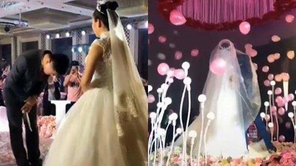 Yêu nhau từ thuở 17, chú rể mặc áo đồng phục trong đám cưới: Cuối cùng anh cũng cưới được em