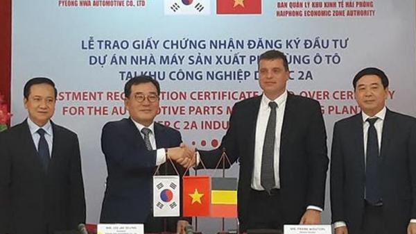 Hải Phòng: Thêm một dự án nhà máy sản xuất phụ tùng ô tô của Hàn Quốc