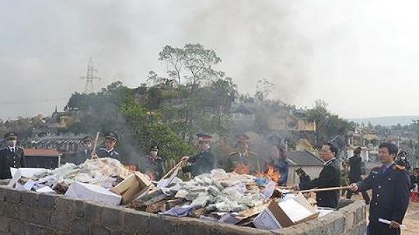 Nóng: Tiến hành tiêu hủy 100 bánh heroin vụ Lục Thanh Đồng ở Cao Bằng cùng hàng trăm bánh heroin của nhiều phi vụ khác