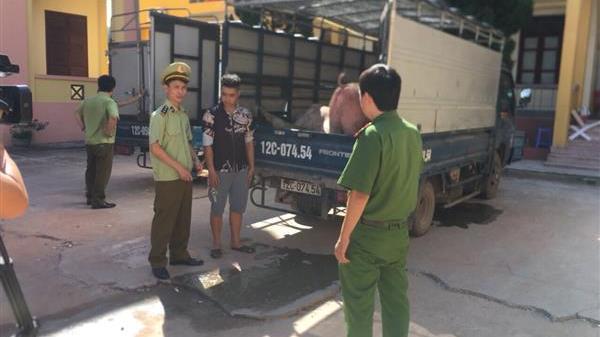 Thu giữ hơn 3 tấn thịt lợn nhập lậu từ Trung Quốc