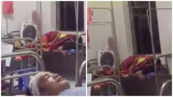 Sốc với đôi nam nữ trùm chăn ôm nhau, nghi ''mây mưa'' trên giường bệnh viện, chị bệnh nhân ngứa mắt quay lại clip