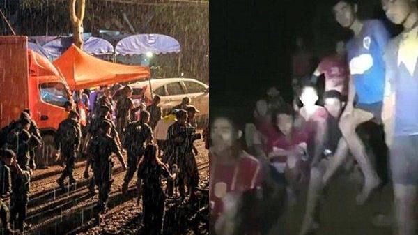 Thái Lan mưa bão trong suốt 10 ngày, đội bóng nhí kẹt trong hang có thể bị sụt lún hoặc ngập lụt nặng hơn