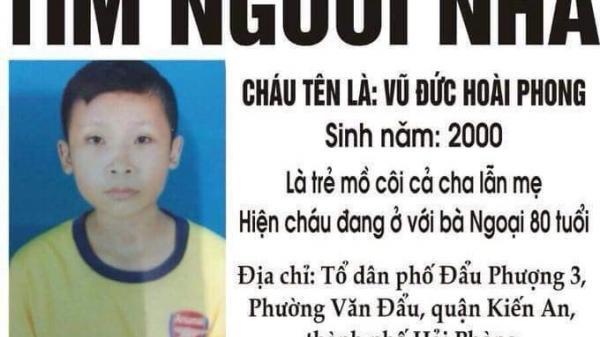 Hải Phòng: Nam sinh mồ côi mất tích sau buổi đi bán rau cho bà