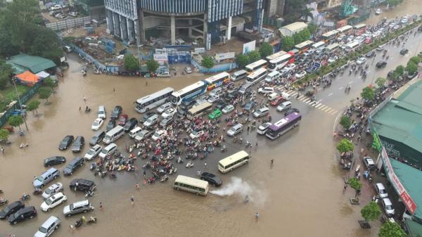 Hà Nội có nguy cơ mưa to, ngập lụt trong những ngày tới