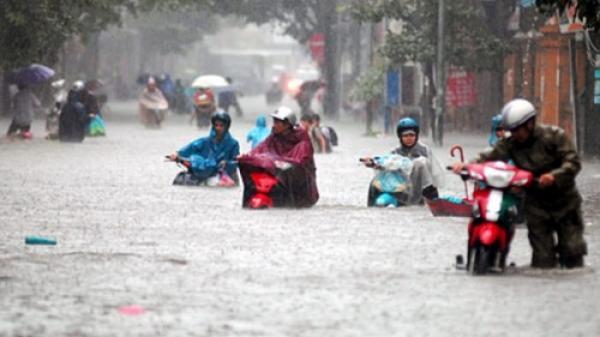 Tuần này Bắc Bộ lại đón áp thấp nhiệt đới gây mưa lớn trên diện rộng, miền Bắc ngập chìm trong nước
