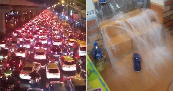 Hà Nội: Đường Nguyễn Trãi tê liệt trong đêm, nhiều nơi nước lùa vào tận nhà như thác 'Bản Giốc' giữa Thủ Đô