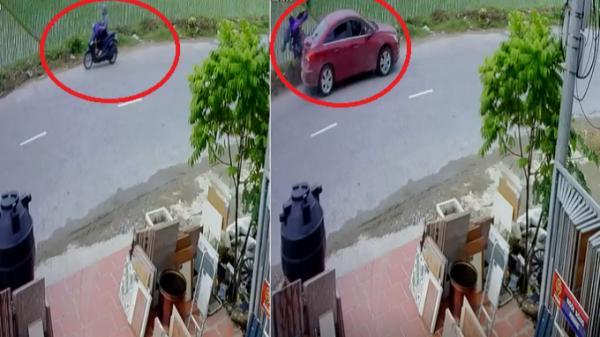 Hải Phòng: Kinh hoàng ôtô lấn làn đâm xe máy nát vụn
