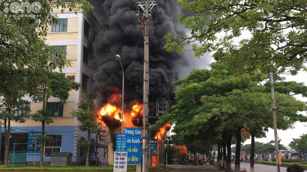 Cháy trạm biến áp chung cư ở Đông Anh, Hà Nội